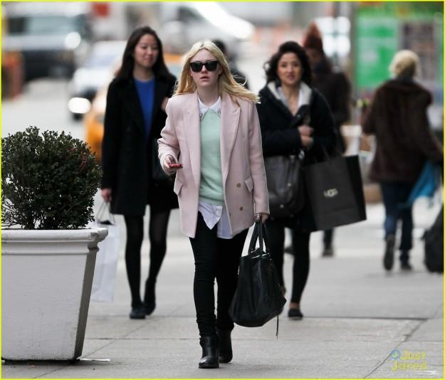 Dakota Fanning in New York